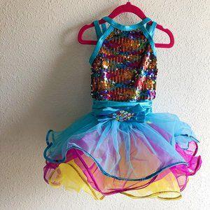 Weissman Multicolored Sequin Dance Costume SC